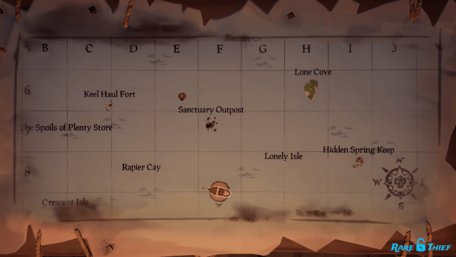 Reaper's Chest Map Table