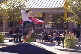 Kickflip on College Ave. skate park