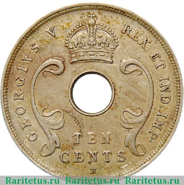 Цена монеты 10 центов (cents) 1911 года Британская ...