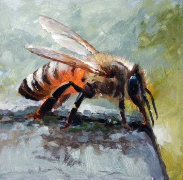 the_bees_knees_6_x_6_acrylic_painting_of_a_honey_bee_61eb2e6c3e6cb74d0e741fff1788832c