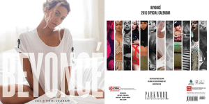 Beyonce Calendar RL