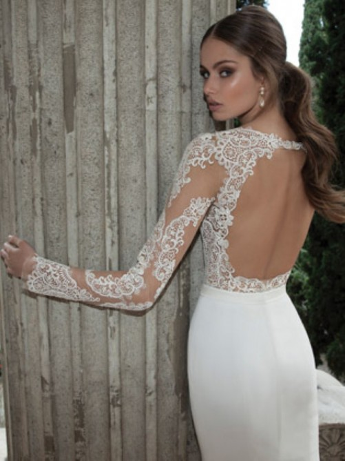 trumpetmermaid_long_sleeves_satin_sweepbrush_train_lace_wedding_dresses-1