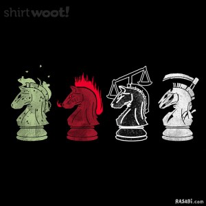 t-shirt four horsemen chess