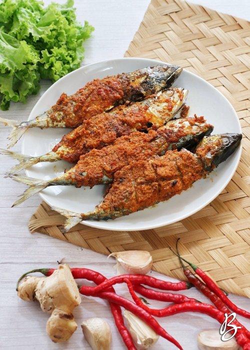 ikan kembung padang bakar sedap