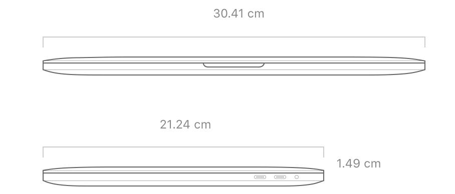 MacBookPro13インチ サイズ