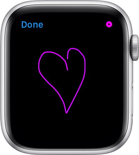 Apple Watch 手書き入力