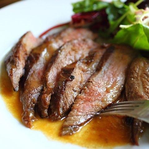 Flank steak.