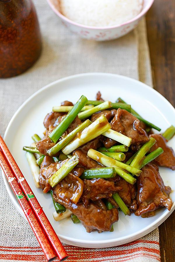 Mongolian Beef - Chinese Recipes - Rasa Malaysia
