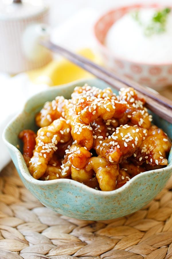 quick and easy dinner ideas, simple dinner ideas, sesame chicken for weeknight meals