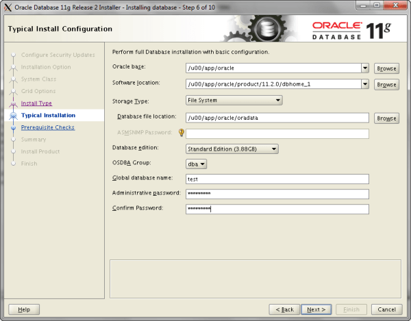 Oracle Install Step 6