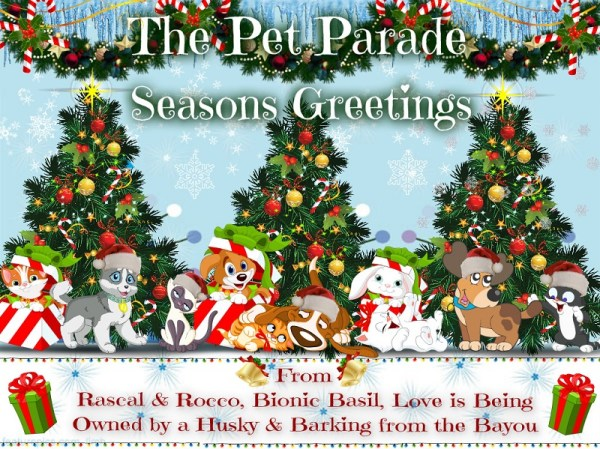 Celebrate Christmas time with the pet parade, where all your favorite pets and animals can be found