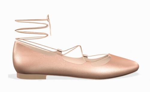 Shoes of Prey Custom Rose Gold Flats
