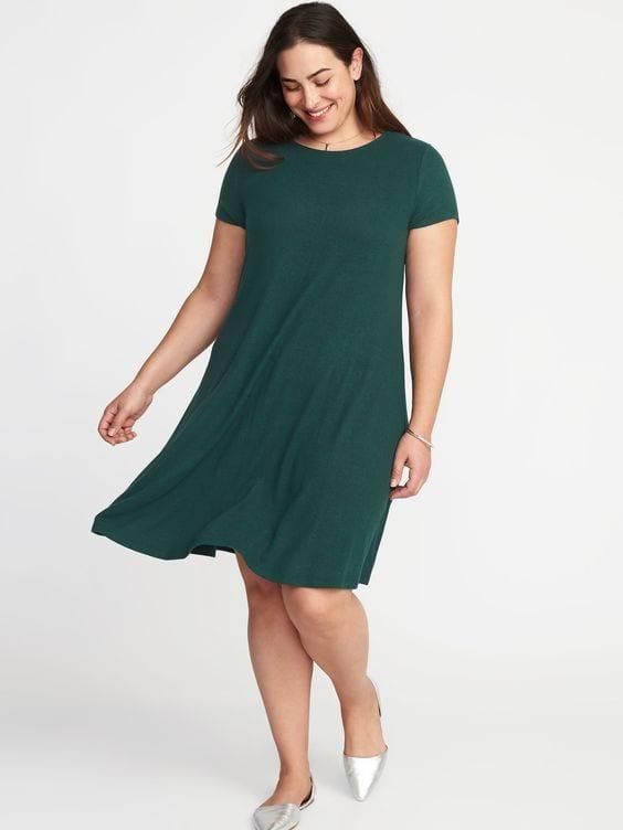 Old Navy Jersey Knit Plus Size Swing Dress