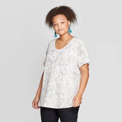 Ava-Viv-Snake-Print-T-Shirt