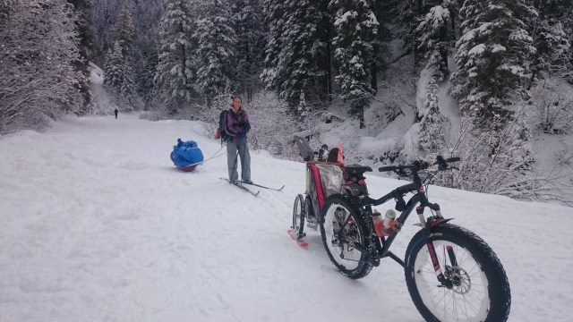Skiing and fat biking in Millcreek Canyon