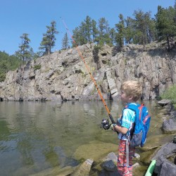 Fishing at Sheridan Lake in the Black Hills