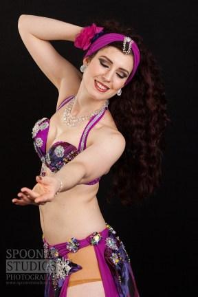 Oxford bellydancer Rasha Nour in purple 3