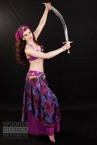 Oxford bellydancer Rasha Nour in purple 19