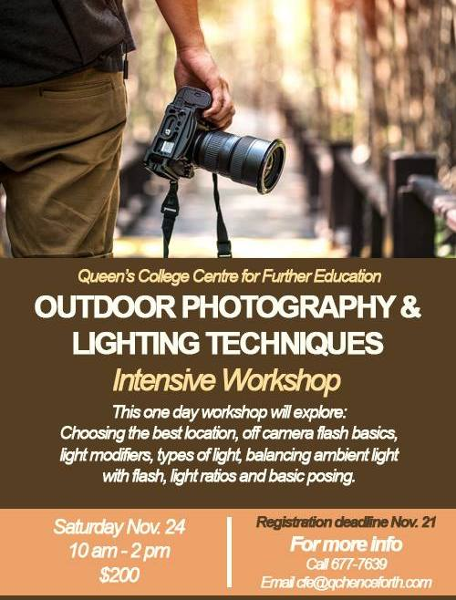 Outdoor Photography & Lighting Techniques Workshop | Rashad