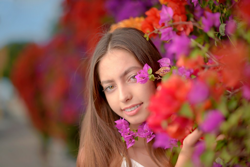 Aperture priority portrait photo bokeh