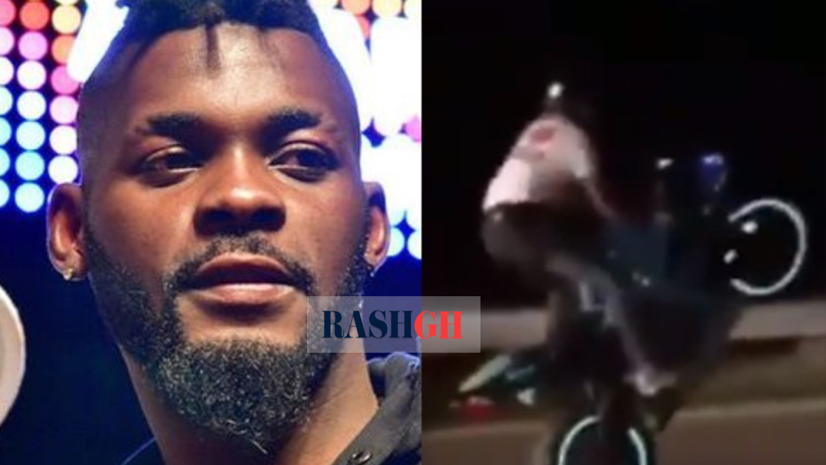 CCTV footage shows how DJ Arafat's accident happened