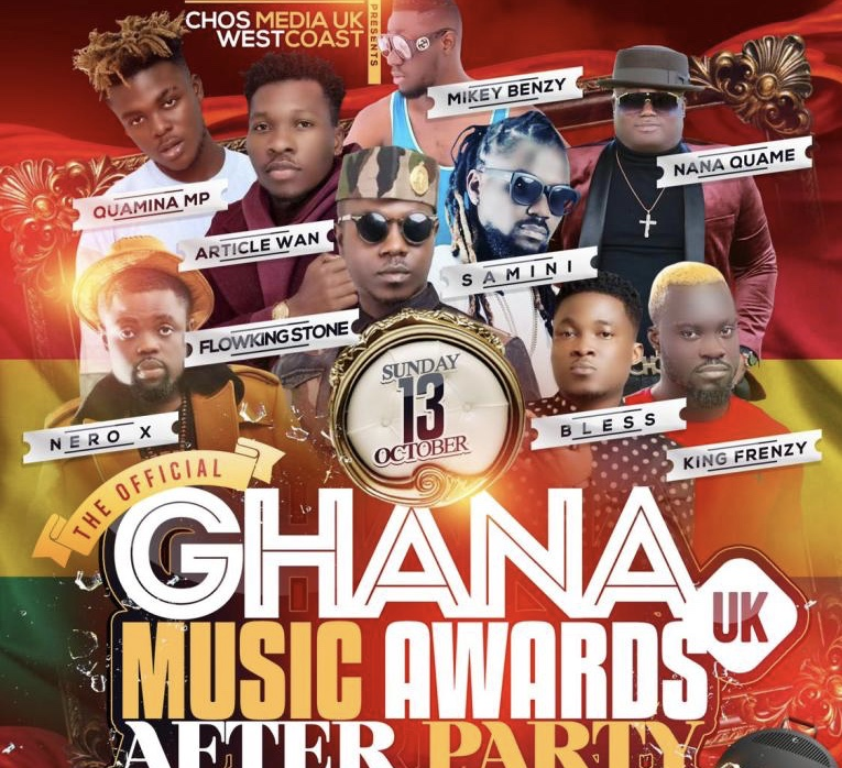 Ghana Music Awards UK after-party On October 13