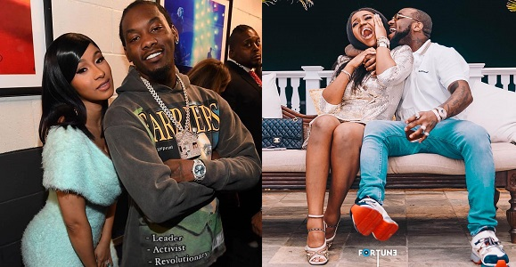 Davido Blasts Cardi B's Husband, Offset For Insulting Chioma (Photo)