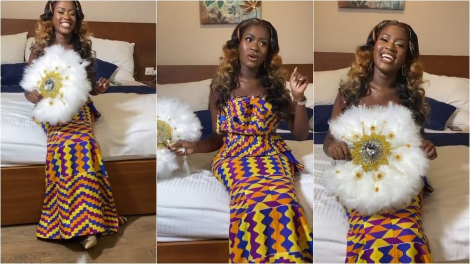 Fella Makafui Collapses At Her Wedding Grounds