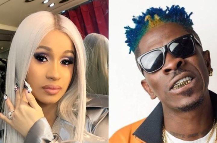 Is Cardi B And Shatta Wale Set To Record A Song Together ? (Watch)