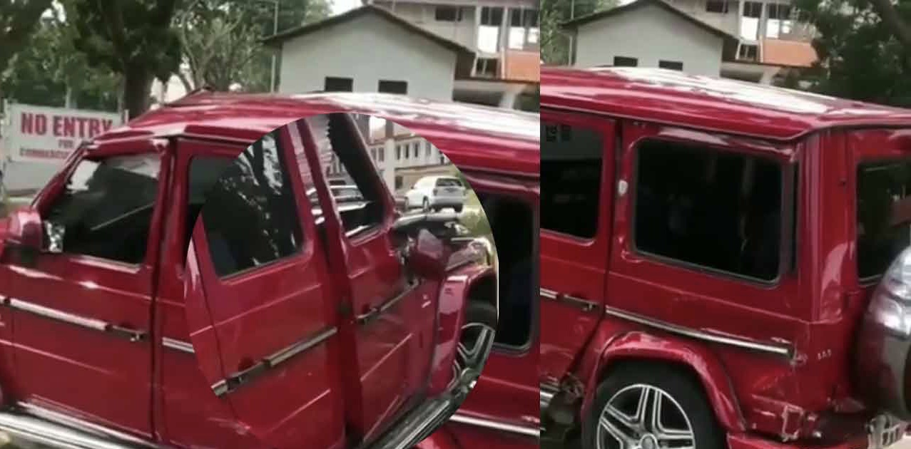 Student crashes G-Wagon he rented to impress a girl on the campus