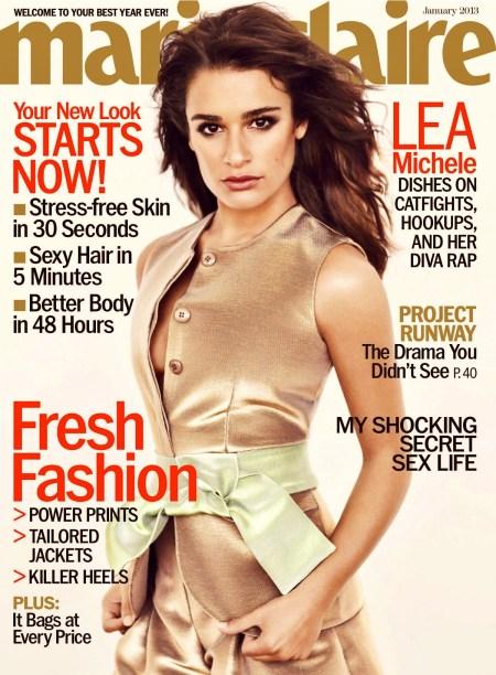 Lea Michele in Marie Claire -05