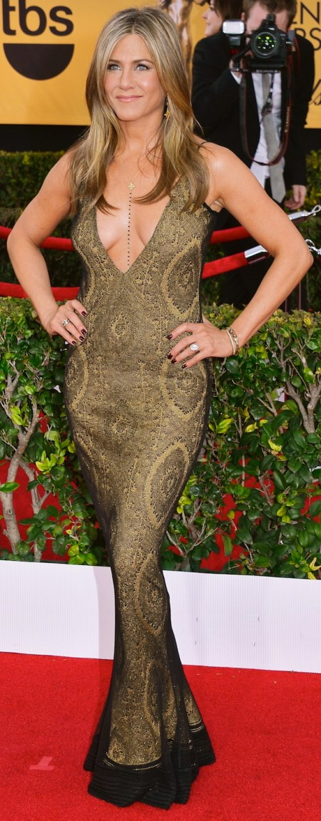 LOS ANGELES, CA - JANUARY 25: Actress Jennifer Aniston attends the 21st Annual Screen Actors Guild Awards at The Shrine Auditorium on January 25, 2015 in Los Angeles, California. (Photo by Lester Cohen/WireImage)