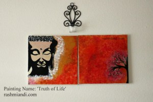 Acrylic Painting : 'Truth of Life'