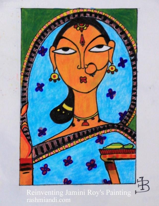 Reinventing Jamini Roy's Painting
