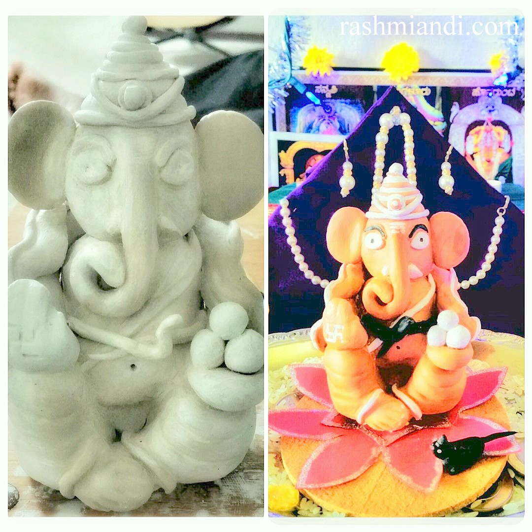 Making of Ganesha idol using Crayola Air Dry Clay