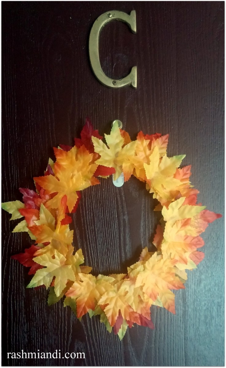 DIY-Reusing Old Gasket to make a Fall Wreath