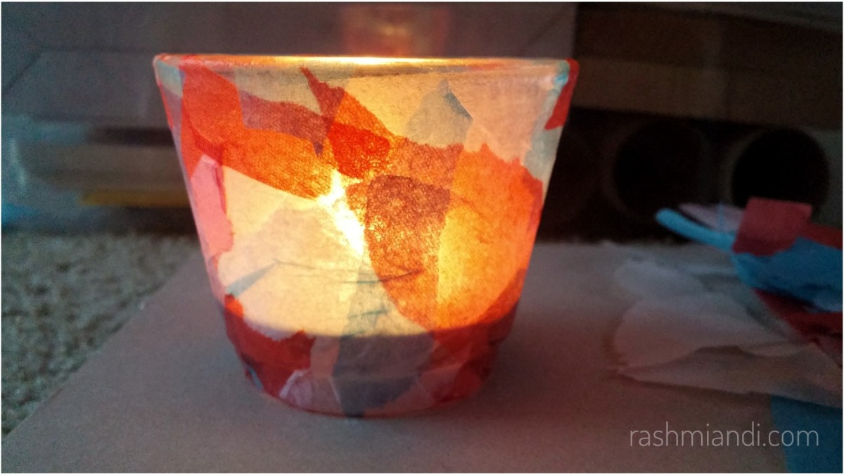 DIY Faux Stained Glass Candle Holder