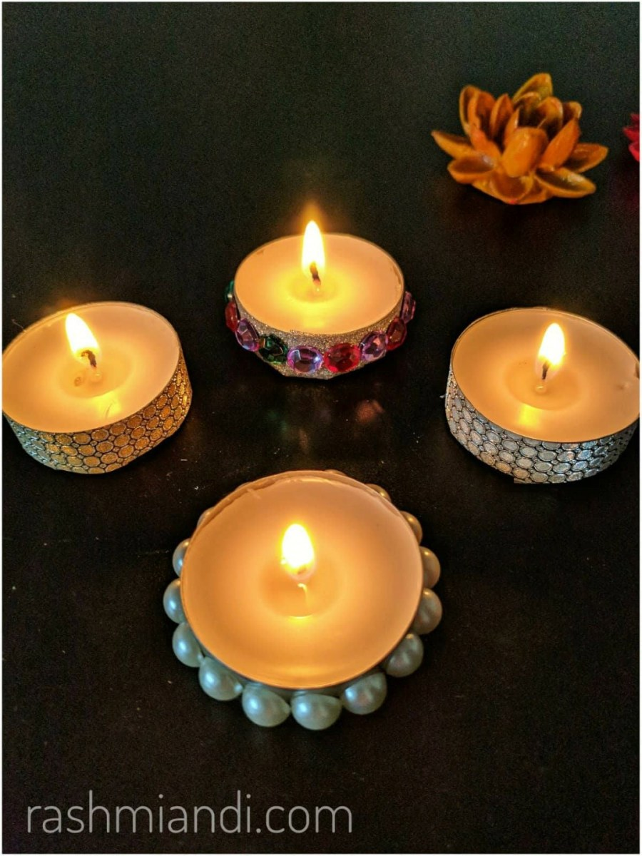 DIY decorative Tealight Candles