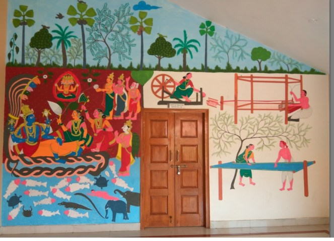 The colorful walls at the Rural Tourism Complex