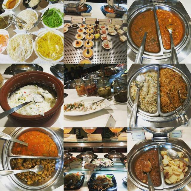 An amazing spread at the lunch buffet at Aaharam GRThellip