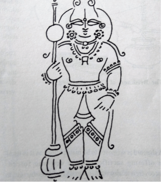 Sketch of Udupi Sri Krishna