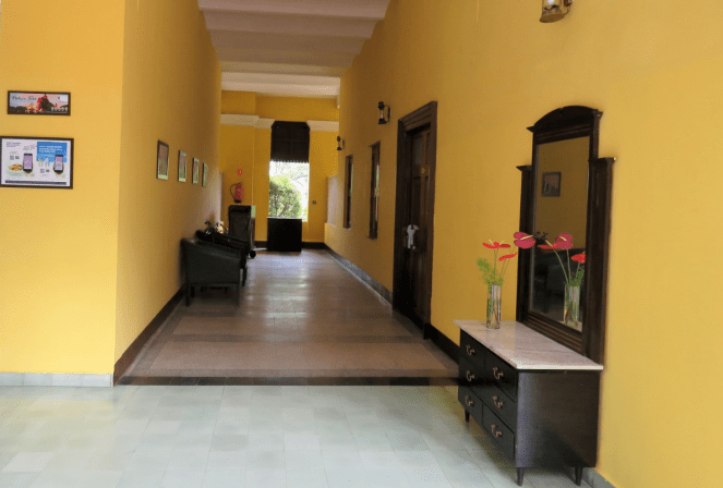 A view of the corridors at Metropole