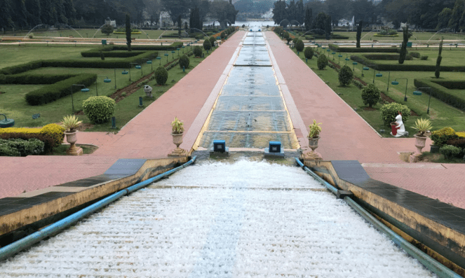 A view of the Brindavan Gardens