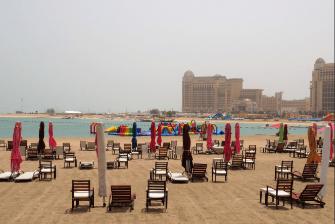 Beach at Katara Cultural village
