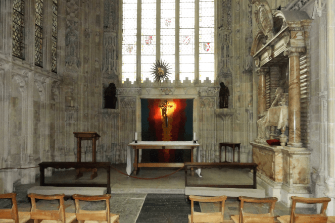 Another view of the interiors of Canterbury Cathedral