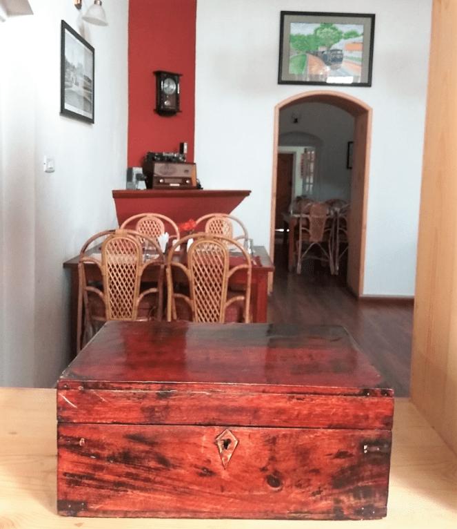 Antique chest at Teanest Nightingale, Kotagiri