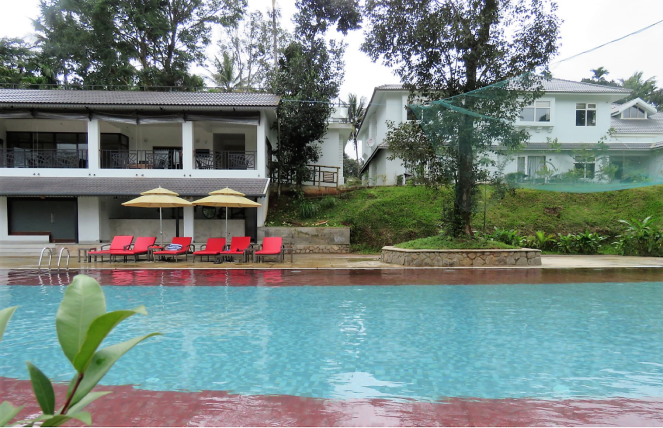 A view of the swimming pool: Sterling Wayanad