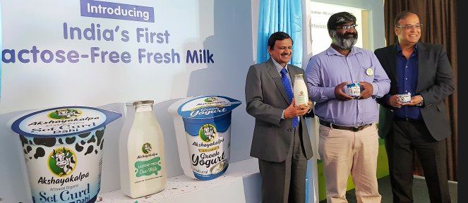 Launch of Akshayakalpa lactose free milk
