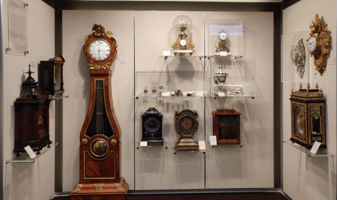 Watches on display at the museum