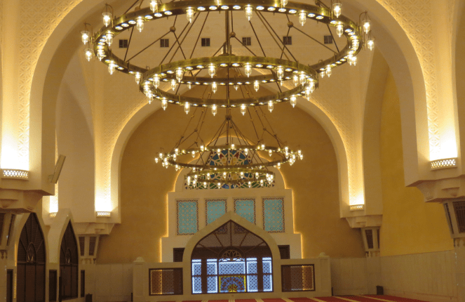 Interiors of the Imam Muhammad ibn Abd al-Wahhab Mosque in Doha